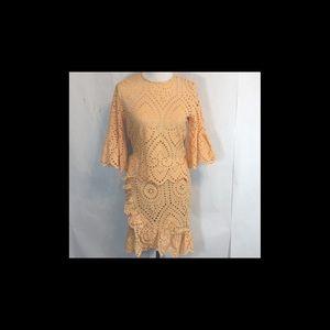 9026ce4aff Winona Valerie Dresses - Winona Valerie Wrap Dress Size 6 Apricot Eyelet